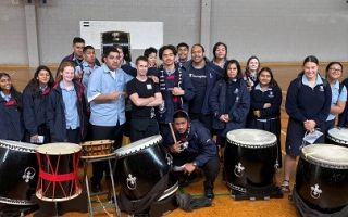 Tamashii Taiko Drummers Rocks One Tree Hill College